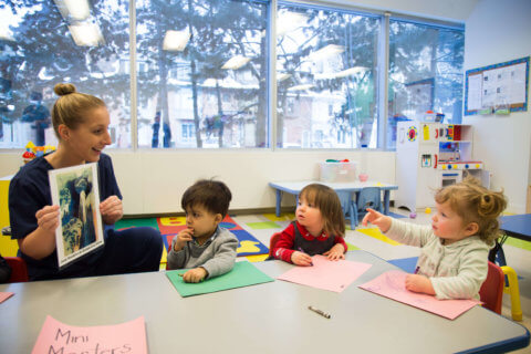 Pre-literacy for pre-schoolers at daycare