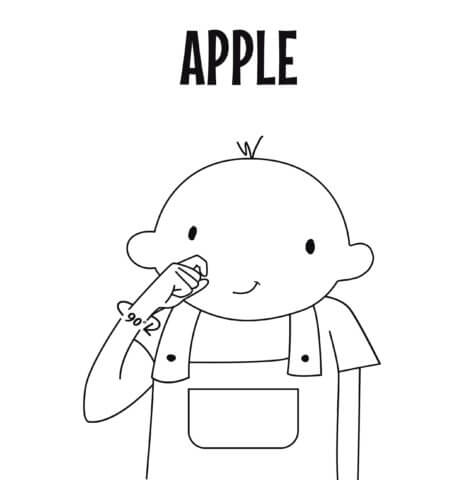 sign language for apple
