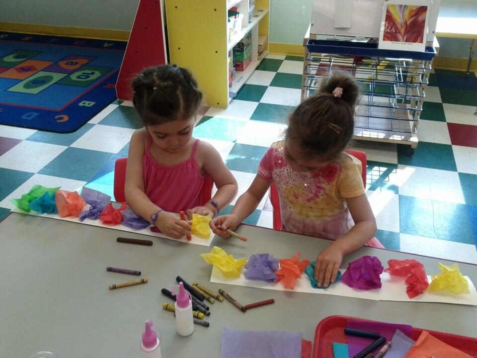 Children playing during daycare