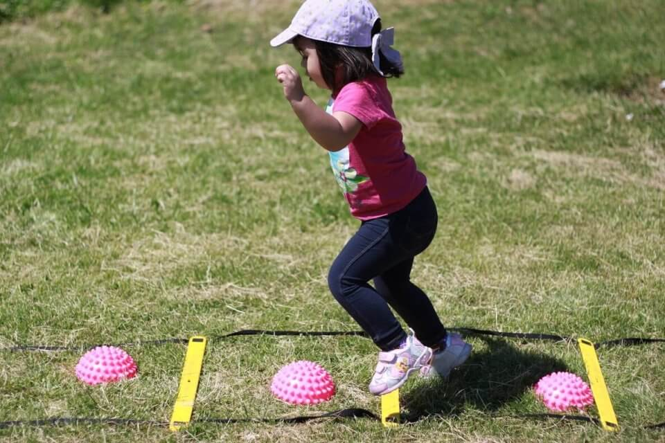 Children playing outside during daycare