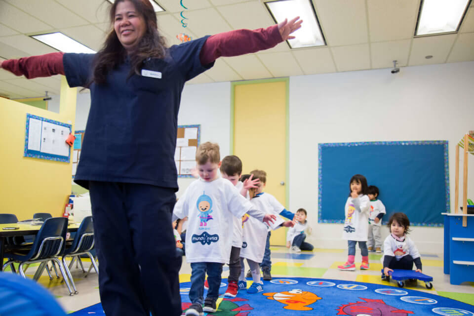 Early Childhood Educator leading students