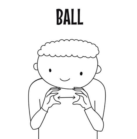 sign language for ball