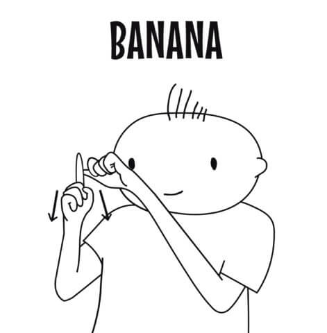sign language for banana