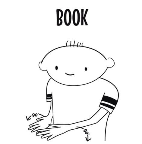 sign language for book
