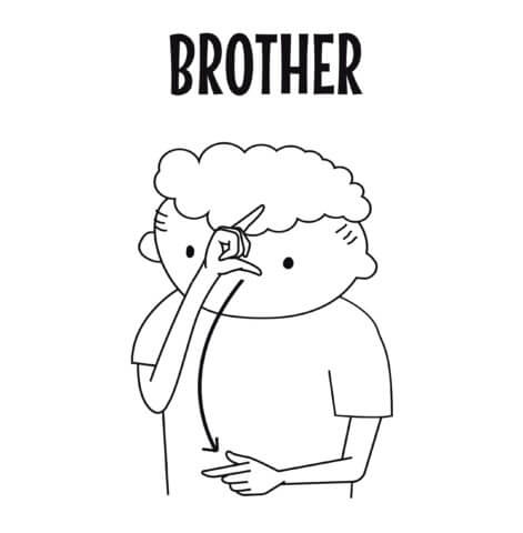 sign language for brother