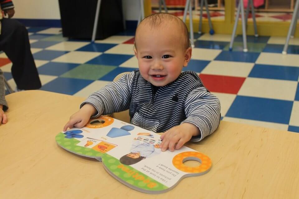 Pre-literacy reading for infants at daycare