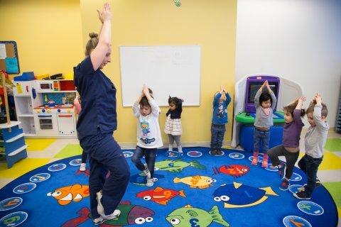 Yoga poses kindergarten