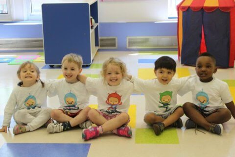 Children playing together at daycare