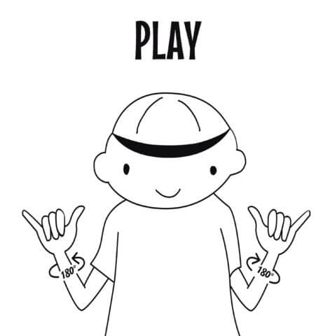 sign language for play