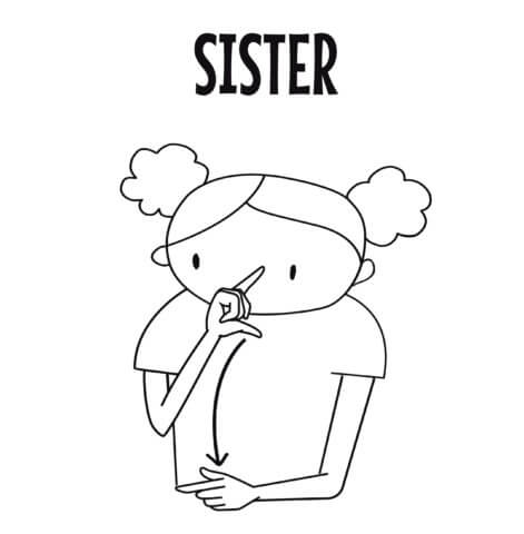 sign language for sister