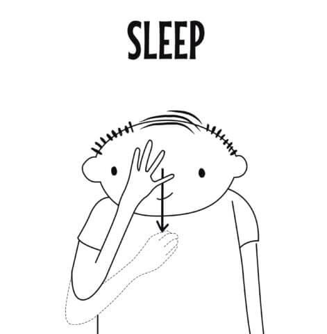 sign language for sleep