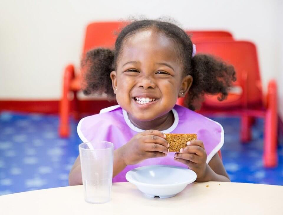 Snack time at daycare: healthy nutritious snack for kids