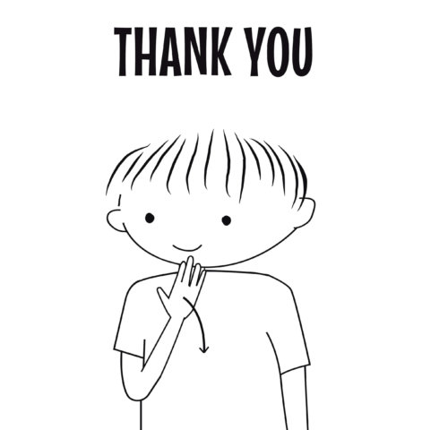 sign language for thank you