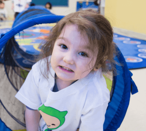 child playing at daycare
