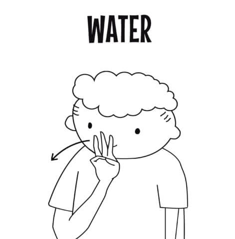 sign language for water