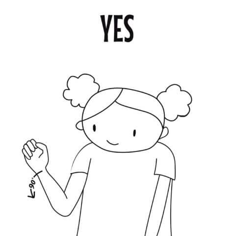 Sign language yes