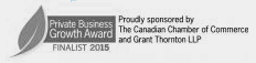 Private Business Growth Award Finalist 2015 logo